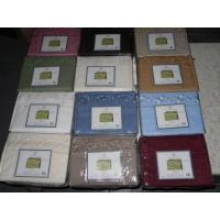 China Bed Sheets Queen Embroidery Micro Sheet Sets Case Pack 12 wholesale