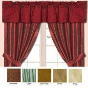 Wholesale Dupioni Silk Window Curtain Pole Top Valance from china suppliers