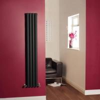 Wholesale Luxury High-Gloss Black Slim Vertical Designer Radiator 1600mm x 236mm (Double Panel) from china suppliers