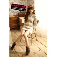 China Gentle send the fine lines woolen long sweater -9204 wholesale
