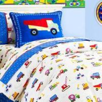 China Olive Kids Construction Full/Queen Duvet Cover wholesale