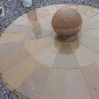 Mixed Brown Circle (various sizes - Indian Sandstone)
