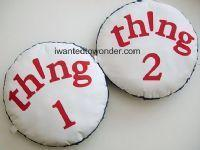 China Dr Seuss Thing 1 and 2 Pillow Set to Match Pottery Barn Kids Bedding ~ Custom Made for You wholesale