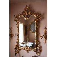 Carved wood mirrors images images of carved wood mirrors for Cheap antique style mirrors