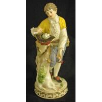 Wholesale Porcelain - China Meissen figurine of gentleman collecting eggs in his hat. Height 7 3/4 in. from china suppliers