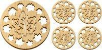 Wholesale Wooden Maple Leaves Trivet and Coasters Gift Set [MLW-66625] from china suppliers