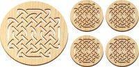 Wholesale Wooden Celtic Knot Trivet and Coasters Gift Set [MLW-66606] from china suppliers