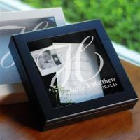 Wedding Wishes Keepsake Shadow Box in Black