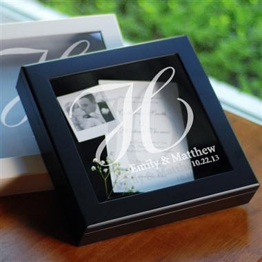 Quality Wedding Wishes Keepsake Shadow Box in Black for sale