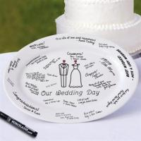 Wholesale Wedding Day Guest Book Platter w Porcelain Marker from china suppliers