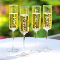 Wholesale Celebrate! Contemporary Champagne Flutes - Set of 4 from china suppliers