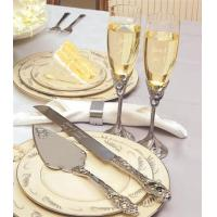 Wholesale Personalized Satin Finish Champagne Flutes & Cake Server Set from china suppliers