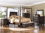 Mirror canopy bed quality mirror canopy bed for sale for Ashley millennium bedroom suite