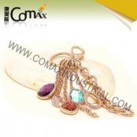 Wholesale Fancy keychains FK-0148 Rose Gold Plated Diamond Metal Fancy Keyrings from china suppliers