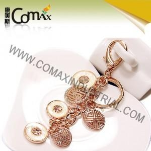Quality Fancy keychains FK-0154 Traditional Coin Metal Fashion Fancy Keyrings for sale