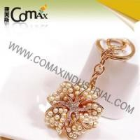 Wholesale Fancy keychains FK-0153 Pearl Rose Gold Flower New Design Keychains from china suppliers