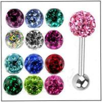 Wholesale AB 28868 Steel Tongue with Swarovski Ferido Ball from china suppliers