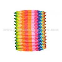 China Striated Design Hanging Paper Candle Lanterns , Unique Cylindrical Paper Lanterns on sale