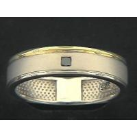 China Gold And Silver Lipped Square Black Diamond Ring on sale