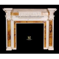 Wholesale Marble fireplaces Inlaid Fireplaces 01 from china suppliers