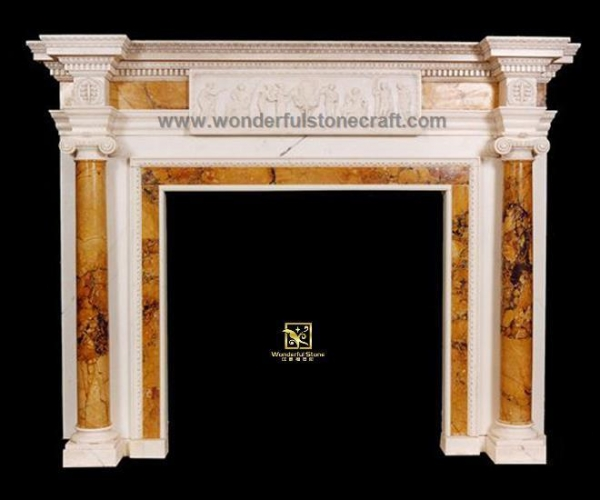 Quality Marble fireplaces Inlaid Fireplaces 01 for sale