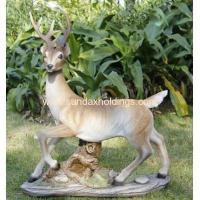 Wholesale Garden Series SF12172-1 realist animal poly deer statue garden ornament from china suppliers