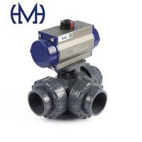 Buy cheap Automated L /T Port 3-Way True Union Plastic Ball Valve from wholesalers