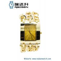 Wholesale Cheap Gold Chain Women Watches with Big Face for Ladies from china suppliers